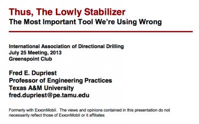 Thus, The Lowly Stabiliser
